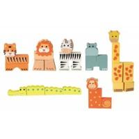 Animale din cuburi 27 piese Egmont Toys