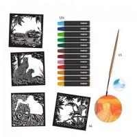 Atelier creativ cu creioane acuarela Djeco - Lumina din fundal