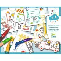 Atelier creativ de desenat Masini Djeco