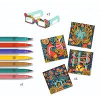 Atelier de colorat 3D Djeco Fantezie în padure