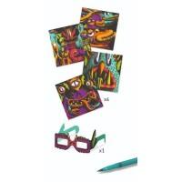 Atelier de colorat 3D Djeco - Monstruleti simpatici