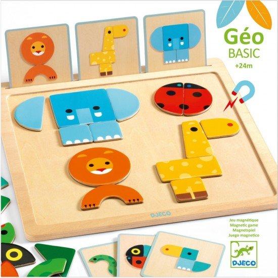 Joc pentru bebe cu forme geometrice Geo Basic Djeco