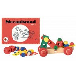 Set constructie 48 piese Mecaniwood Egmont