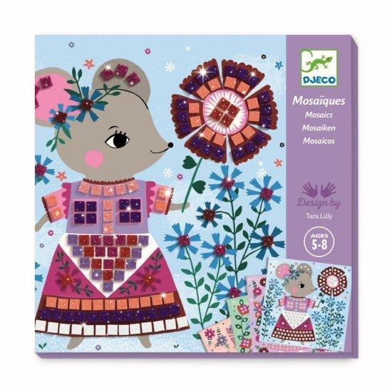 Set creativ mozaic Djeco - Animale de companie