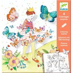 Planse de desenat cu surprize Djeco Lady Butterfly