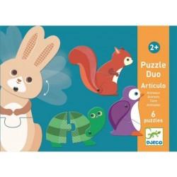 Puzzle duo mobil animale Djeco