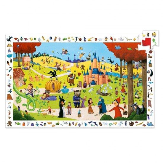 Puzzle observatie 54 piese Djeco - Povesti renumite