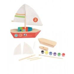 Set de confectionat barca din lemn
