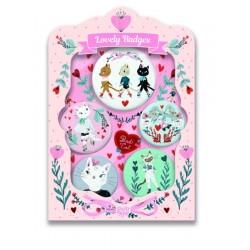 Set insigne Djeco - Pisici dragalase