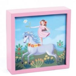 Tablou luminos Djeco - Unicornul feeric