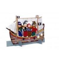 Teatru cu papusi de deget pirati