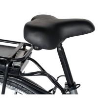 Bicicleta electrica City cu roti 28 inch, motor 250W, autonomie maxim 60 km Carpat CSC10/10E Gri/Alb