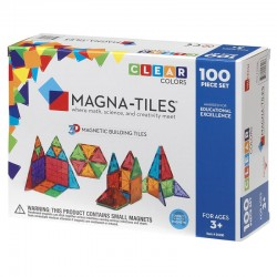 Set magnetic 100 piese Clear Colors Magna-Tiles