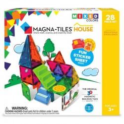 Set magnetic Magna-Tiles House cu autocolante 30 piese