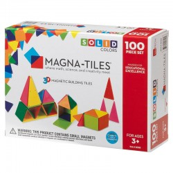 Set magnetic 100 piese Solid Colors Magna-Tiles