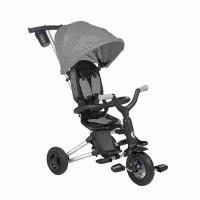 Tricicleta ultrapliabila cu roti cauciuc Qplay Nova Air Negru