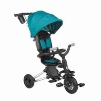 Tricicleta ultrapliabila cu roti cauciuc Qplay Nova Air Turcoaz