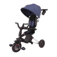 Tricicleta ultrapliabila cu roti cauciuc Qplay Nova Air Albastru inchis
