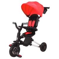 Tricicleta ultrapliabila cu roti cauciuc Qplay Nova Air Rosu