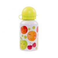 Sticla din aluminiu cu capac Happy Fruit and Veg 300 ml