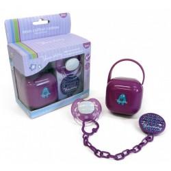 Set suzeta si accesorii Purple Thermobaby