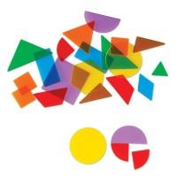 Forme geometrice transparente 408 piese