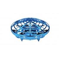 Mini drona OZN cu control gestual bleu