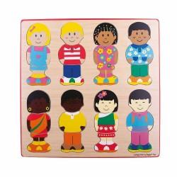 Puzzle din lemn - Micutii prieteni