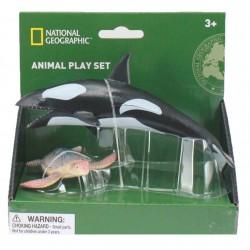 Set 2 figurine - Balena si Broasca Testoasa