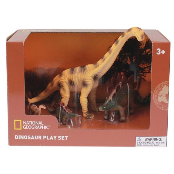 Set 4 figurine - Brachiosaurus, Stegosaurus si puii lor