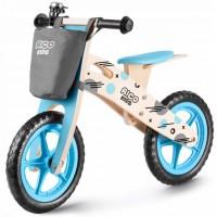 Bicicleta de lemn fara pedale Ricokids RC-612 - Albastru