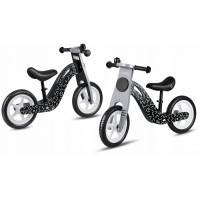 Bicicleta de lemn fara pedale Ricokids RC-615 - Negru - Gri