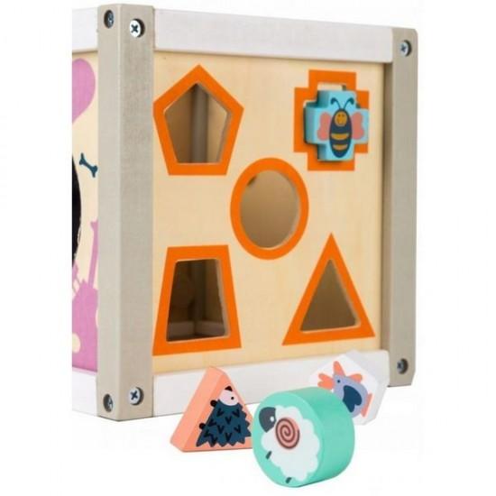 Cub educational din lemn Ecotoys 1030