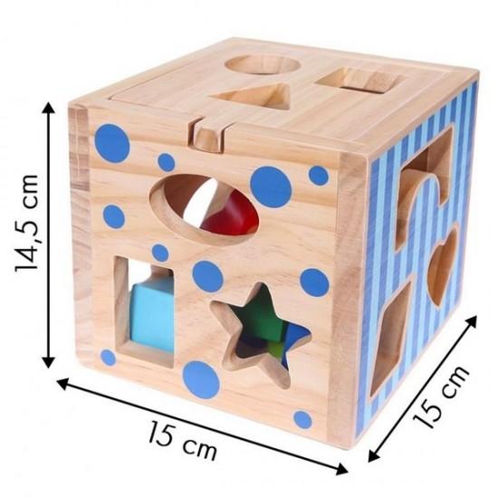 Cub educational din lemn Ecotoys 2047
