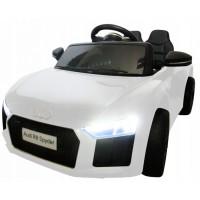 Masinuta electrica cu telecomanda Audi R8 R-Sport - Alb