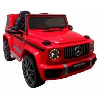Masinuta electrica cu telecomanda, roti EVA, scaun piele Mercedes G63 - Rosu