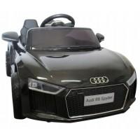 Masinuta electrica cu telecomanda, roti EVA, scaun piele Audi R8 R-Sport - Negru