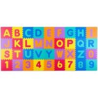 Covoras de joaca 120 x 270 cm cu litere si cifre Ricokids 7487 - Multicolora