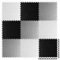 Covoras de joaca 180 x 180 cm Ricokids 7494 - Gri - Negru - Alb