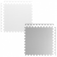 Covoras de joaca 180 x 180 cm Ricokids 7495 - Gri - Alb