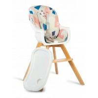 Scaun de masa 3 in 1 cu picioare din lemn 63 x 58 x 90 cm Ricokids Lilo 700204 - Multicolor
