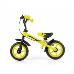 Bicicleta fara pedale cu frana Dragon Yellow