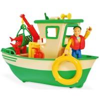 Barca Pompierul Sam cu figurina Charlie Simba