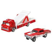 Camion Hot Wheels Car Culture Ford C-800 cu masina Mercury Comet Cyclone 65