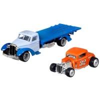 Camion Hot Wheels Car Culture Speed Waze cu masina Ford 32