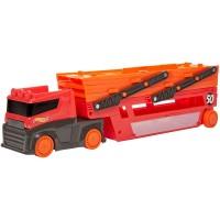 Camion Hot Wheels transportator cu trailer