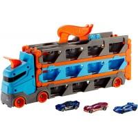 Camion si pista de masinute Hot Wheels Speedway Hauler cu trailer si 3 masinute