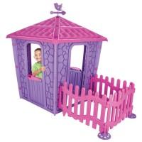 Casuta cu gard pentru copii Pilsan Stone House Purple