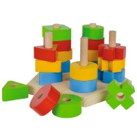 Jucarie educativa din lemn Eichhorn Stacking Toy