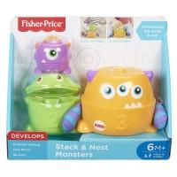 Jucarie bebelusi Fisher-Price Micutii Monstri 3 in 1